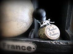 """Pastille en  céramique """"Herbes de Provence"""" Minéral"""