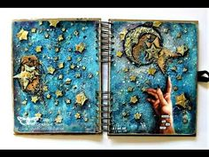 Reach for the Stars - mixed media art journal page by Sanda Reynolds www.artfulflight.com