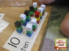 Free number cards to use with manipulatives!