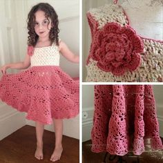 Interesting Stitch Pattern. Little Girl Vintage Dress Free Pattern