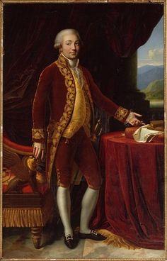 * Carlo Maria Bonaparte * (Pai de Napoleão Bonaparte). (Autor: Desconhecido).