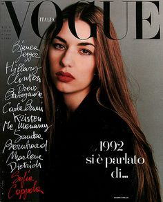 Sofia Coppola photographed by Steven Meisel for Vogue Italia.