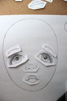 Textile doll face: how to find your style Doll Face Paint, Doll Painting, Fabric Painting, Fabric Dolls, Paper Dolls, Muñeca Diy, Tilda Toy, Doll Making Tutorials, Doll Eyes