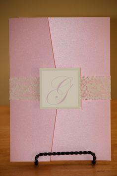 Pocketfold Wedding Invitation. $7.50, via Etsy.