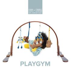 Our 2 height adjustable Play Gym has a 100% birch wood frame finished with non-toxic stains and lacquers (free of lead, phthalate, nickel, mercury, and VOC's). 🌿💕Get yours at Finnandemma.com #finnandemma