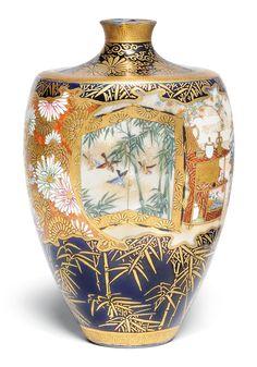 Japanese Haiku, Japanese Art, Ceramic Pottery, Ceramic Art, Satsuma Vase, Oriental Decor, Chinoiserie Chic, Japanese Porcelain, Japanese Beauty