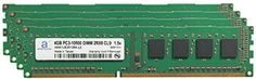 Adamanta 16GB (4x4GB) Desktop Memory Upgrade for Acer Aspire G3610 - P67 Predator DDR3 1333 PC3-10600 DIMM 2Rx8 CL9 1.5v Notebook RAM - Brought to you by Avarsha.com