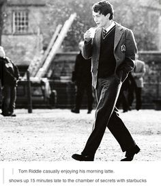 Tom Riddle swag. Yes, swag.