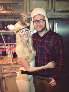Halloween 2013 deer and hunter couple's costume