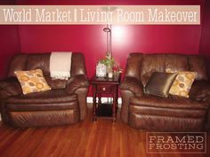 Thanks to @Cost Plus World Market I was able to give my living room a makeover and it looks fabulous!! It's amazing what a difference a few pillows, a blanket, and some decor can make!!