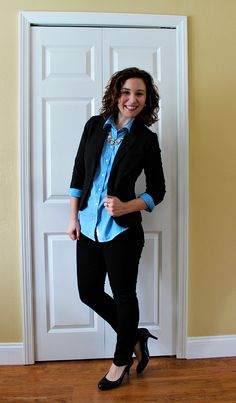 A striped blue oxford goes with anything--dressy AND casual. @U.S. Polo Assn. @searsStyle #ThisisStyle #cbias #shop