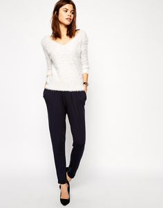 ASOS Peg Pants in Navy http://asos.do/1E1gwc