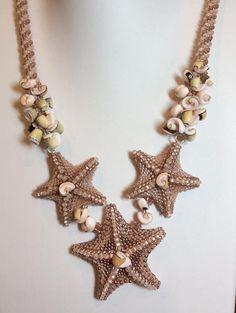 Beaded Starfish Tutorial/ Seed Bead Starfish/ por CSBriccaDesigns