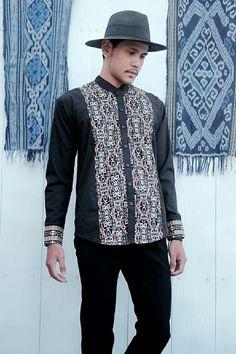 """ L'AUTHORITAIRE "" ( Songket for Ramadhan & Ied ) Menswear - Black Dayak - tribal pattern - summer"