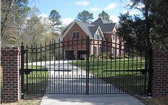 Wrought Iron Ornamental Driveway Gates. We ship anywhere! amazinggates.com