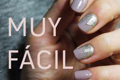 GREY AND SILVER NAIL ART | Uñas decoradas en gris topo y plata |  Elegante, discreto y muy fácil