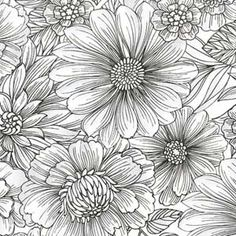 GREY CLUSTERED FLORAL FABRIC