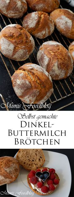Dinkel buttermilk buns - When the weekend gets closer, sometimes I secretly dream of an extensive brunch with my loved ones. Pizza Recipes, Brunch Recipes, Mexican Food Recipes, Bread Recipes, Snack Recipes, Snacks, Food Blogs, Bread Baking, Bakery