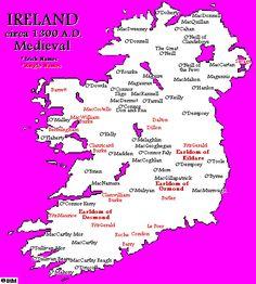 Ireland's History in Maps (1300 AD)