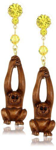 """TARINA TARANTINO """"Cocobanana"""" Orangutan Earrings"""