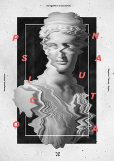 letterspace, ancient statue, scanned, frame, left, right up & down: Solve et Coagula on Behance in Graphic Design / Poster Inspiration