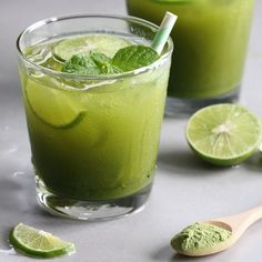 Matcha Green Tea Lemonade (or Limeade)