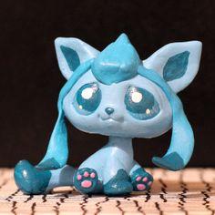 Glaceon Pokemon Littlest Pet Shop custom
