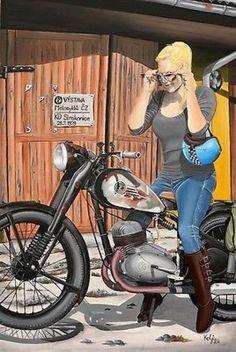 Other Makes : ČZ Motorcycle ČZ 150 C - original painting - http://www.legendaryfind.com/carsforsale/other-makes-cz-motorcycle-cz-150-c-original-painting/