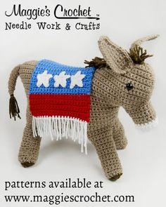 Patriotic Donkey Crochet Pattern