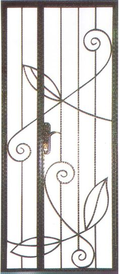 Simple wrought iron design similar to this for main gate and window grilles. Toilet no need grilles, got louvred windows. Might use similar wrought iron material (1-2 loose pieces) inside  the house as structure for vertical gardening too :)