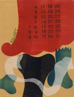 Calendar by H.N. Werkman