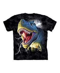 Take a look at this Black Lightning T-Rex Tee - Toddler & Kids by The Mountain on #zulily today!