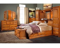 Bedroom Groups-Lincoln Manor Wall Bed 3 Pc. Bedroom Group-Utilize ...