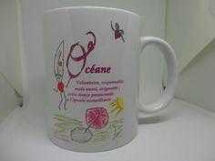 Mug Prénom dessin original Lily la Plume : Vaisselle, verres par lily-la-plume