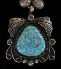 Old Pawn Navajo #8 Mine Stone Pendant