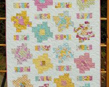 Baby Quilt Pattern  - Layer Cake and Honey Bun Friendly - Honey Cakes Baby Quilt Pattern - PDF