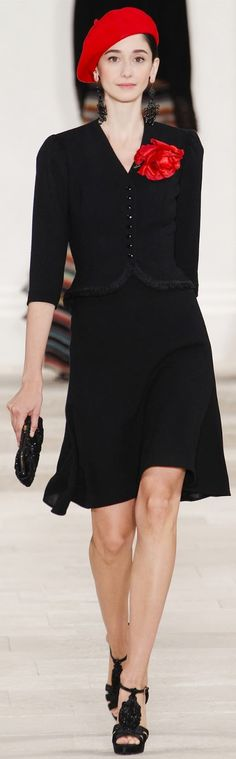 Farb- und Stilberatung mit www.farben-reich.com - Ralph Lauren 2013 - black dress