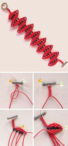 How to weave macrame bracelet