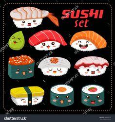 Resultado de imagen de sushi vector