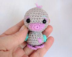 Llavero de ganchillo Pato / Crochet duck keychain