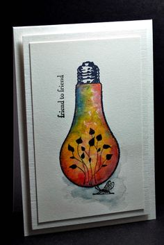Eileen's Crafty Zone: A Light-bulb Stamp from The Artistic Stamper.