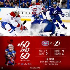 Match#6 MTL(2-3) vs TBY(3-2) Montreal Canadiens, Reebok, Tv, Baseball Cards, Sports, Hs Sports, Television Set, Sport, Television