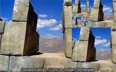 Sacsayhuaman and Golden Rectangle, Cuzco Peru, Bookends, Turkey