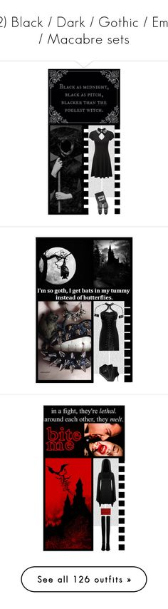 """""""(2) Black / Dark / Gothic / Emo / Macabre sets"""" by irresistible-livingdeadgirl ❤ liked on Polyvore featuring gorgeous, Dark, darkness, Disturbia, Underground, ASOS, emo, creepers, witch and witchcraft"""