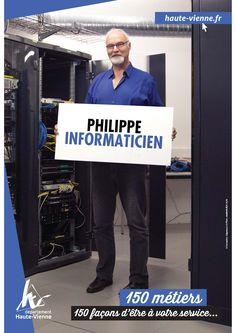 Philippe, informaticien à la Direction des systèmes d'information. Il s'occupe plus particulièrement de la gestion des câblages, de l'administration réseau et de la maintenance informatique dans tous les collèges haut-viennois. Philippe permet ainsi à nos jeunes haut-viennois de travailler dans les meilleures conditions possibles.