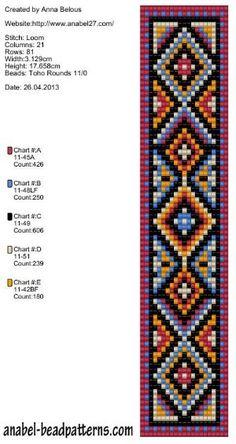 Bead loom pattern by Tesa Marris