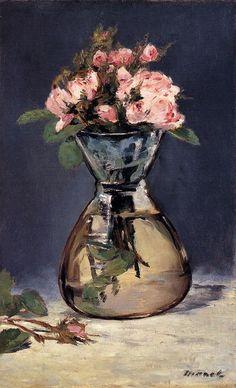 Эдуард Мане. Розы в вазе, 1882