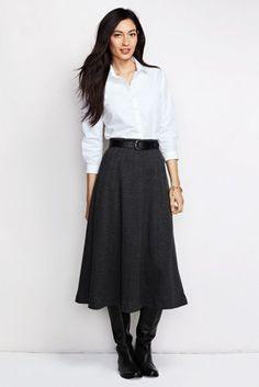 Women's Boot Skirt - Herringbone from Lands' End