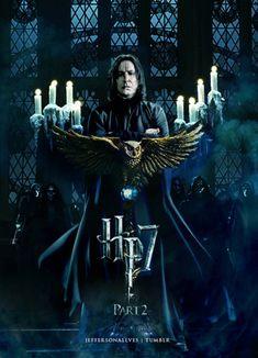 Severus Snape - Harry Potter and the Deathly Hallows Part 2 Harry Potter Poster, Harry Potter Film, Harry Potter Love, Harry Potter Universal, Harry Potter World, Hogwarts, Slytherin, Estilo Harry Potter, Mundo Harry Potter