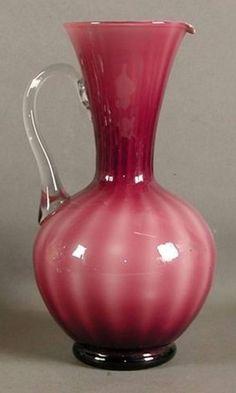 Murano Glass Jug in purple & white 1960 - 1965
